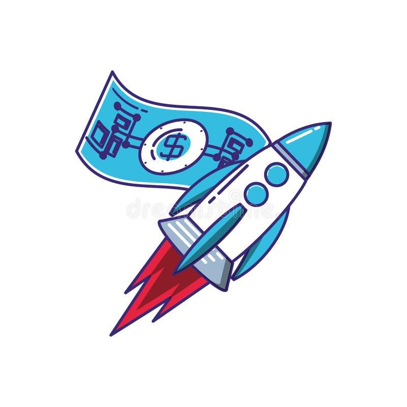 火箭队开始工作以票据 向量例证