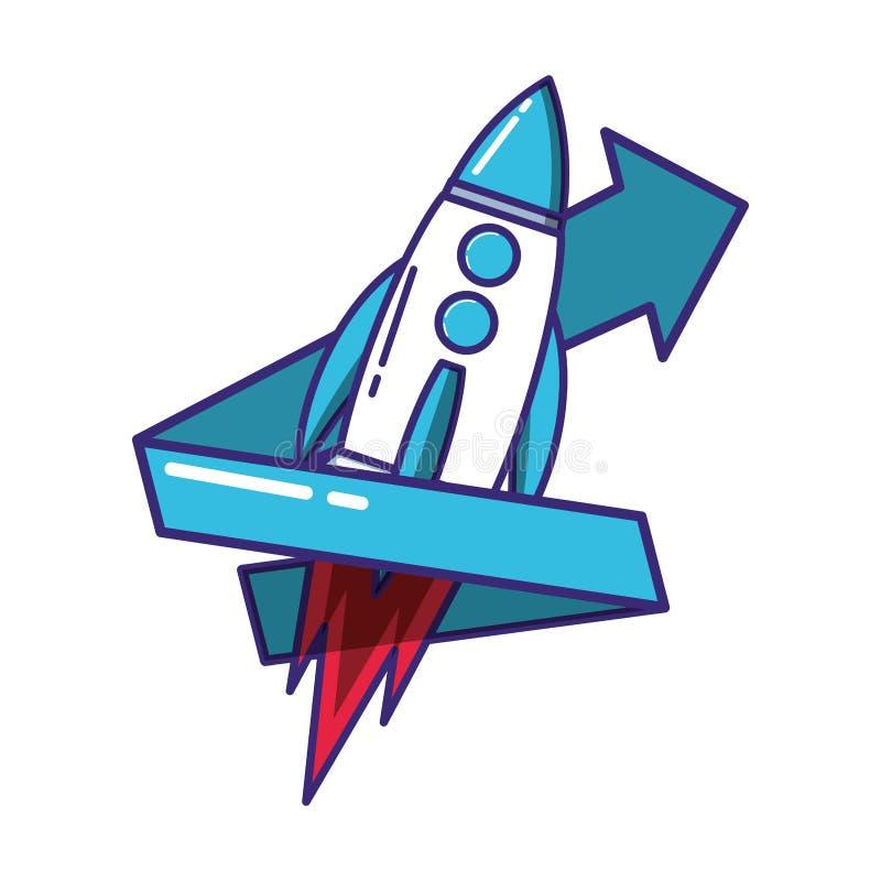 火箭队开始工作以箭头 向量例证