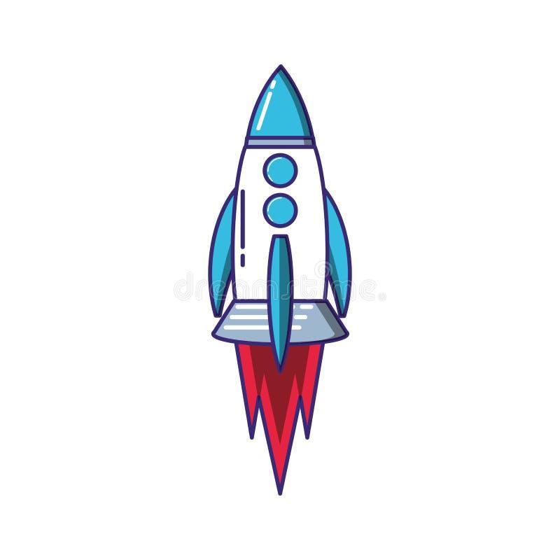 火箭队开始象 库存例证