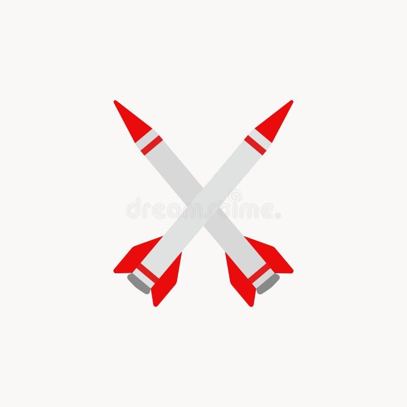火箭队徽章,作战导弹,图象 也corel凹道例证向量 10 eps 皇族释放例证