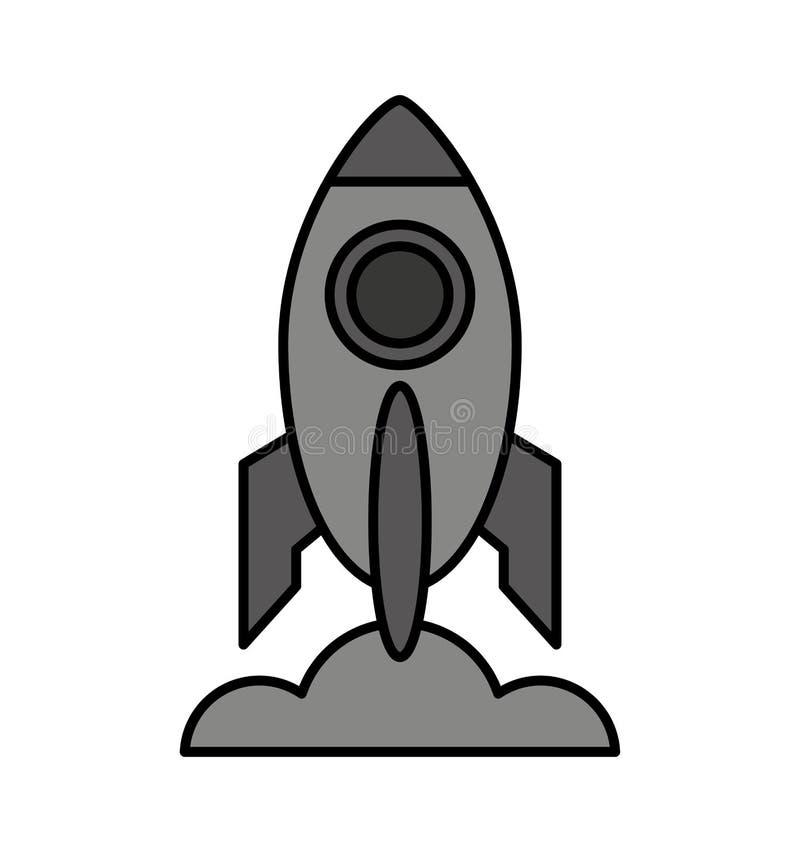 火箭队起动被隔绝的象 向量例证