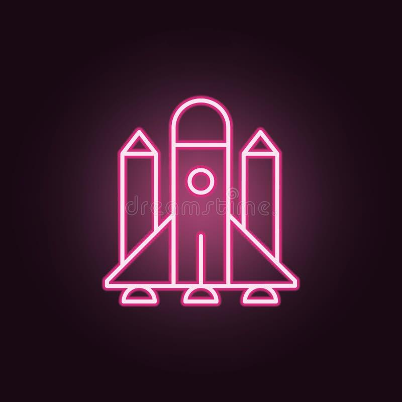 火箭队霓虹象 空间集合的元素 r 向量例证