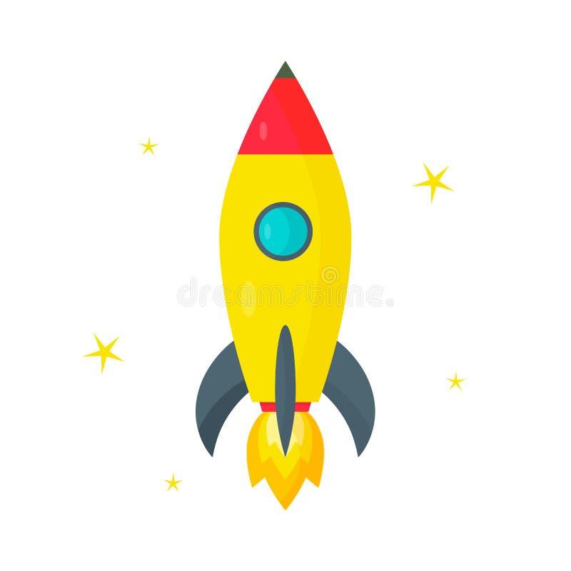 火箭队,在白色背景的黄色星 r 库存例证