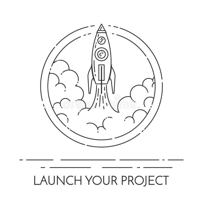 火箭队离开新的企业项目起动的概念 向量例证