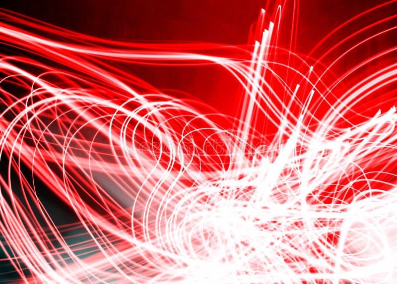 火红和轻的白色电现代点燃的设计图象 图库摄影