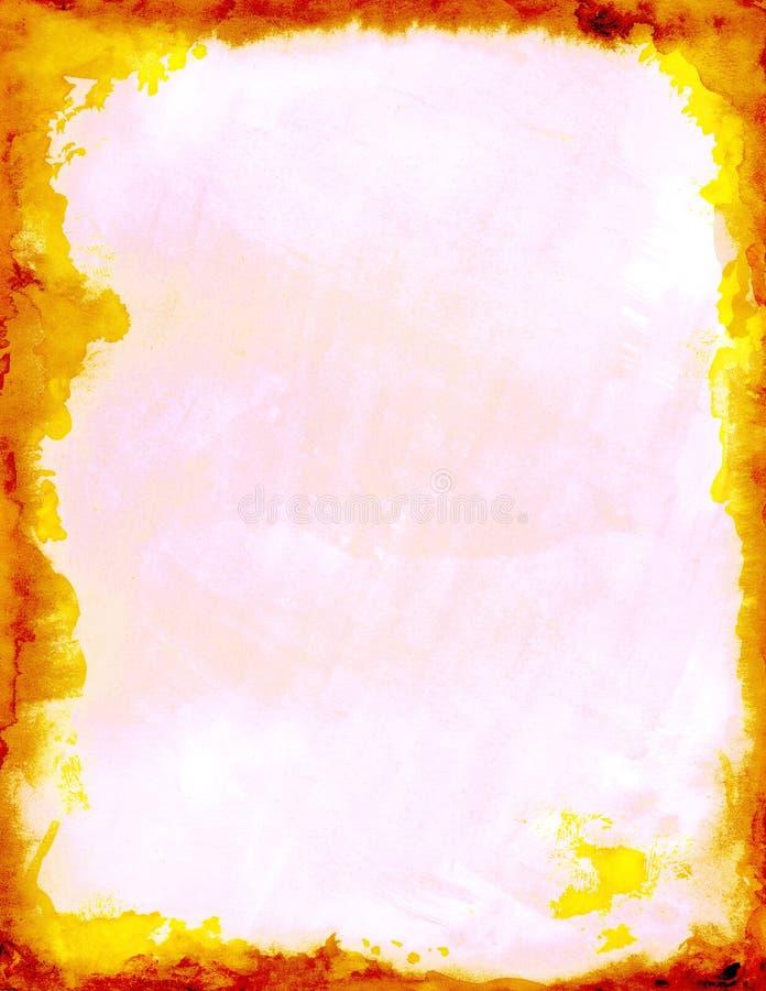 火红色黄色 皇族释放例证