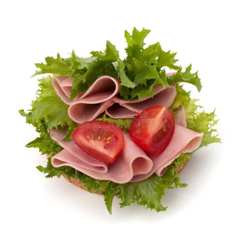 火腿健康三明治熏制的蔬菜 图库摄影