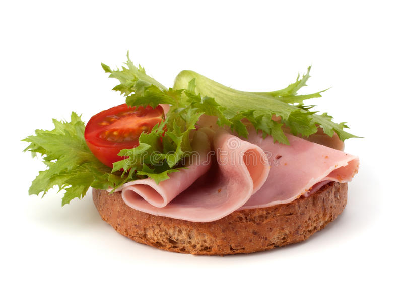 火腿健康三明治熏制的蔬菜 免版税库存图片