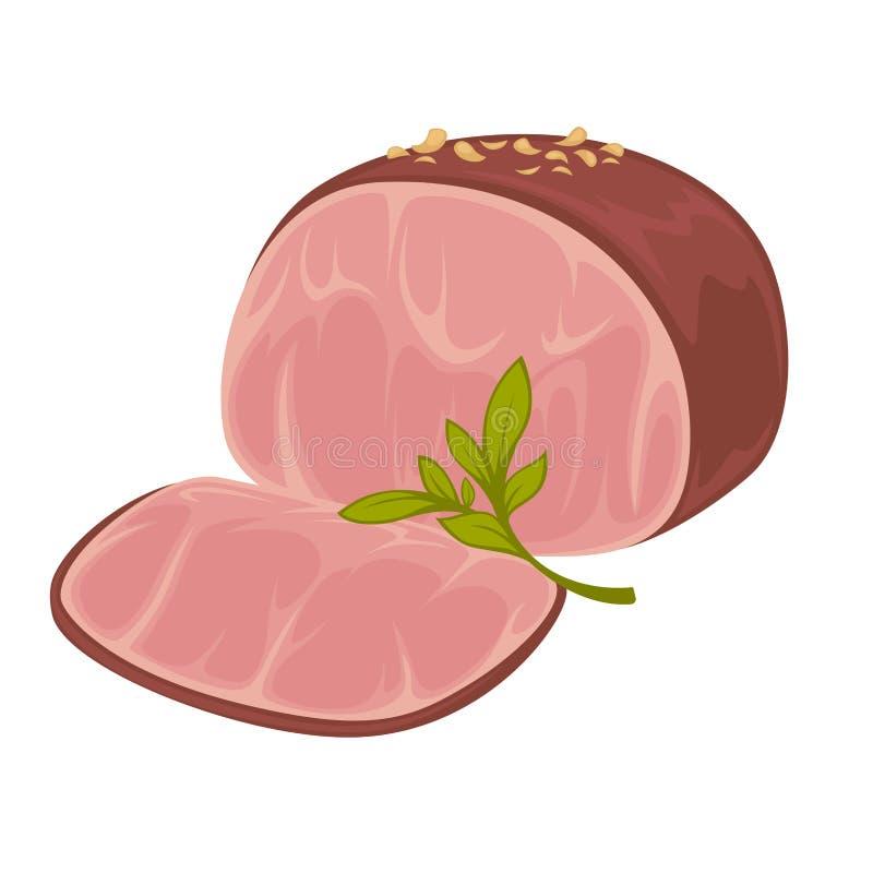 火腿-熏制的猪肉象  皇族释放例证
