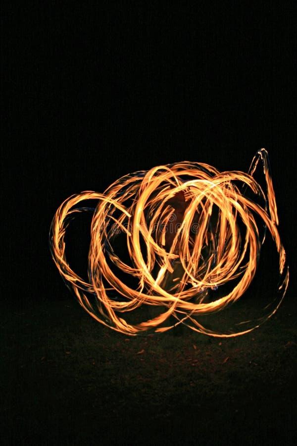 火舞蹈演员 库存图片