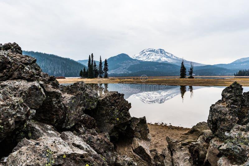火花湖,俄勒冈 免版税库存照片