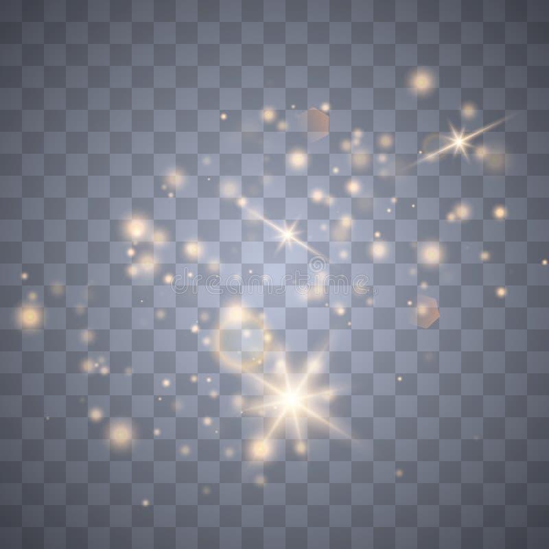 火花闪烁特别光线影响 皇族释放例证