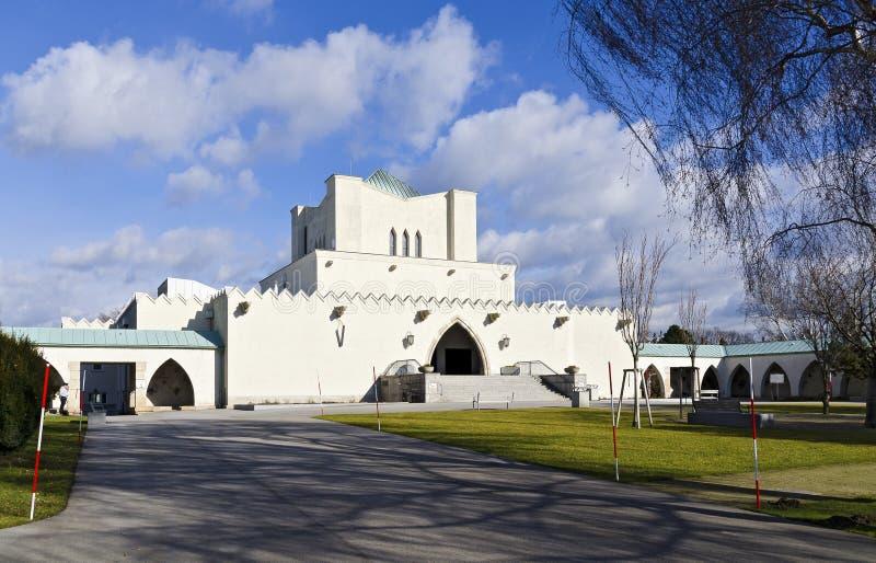 火葬场的大厦 免版税库存图片