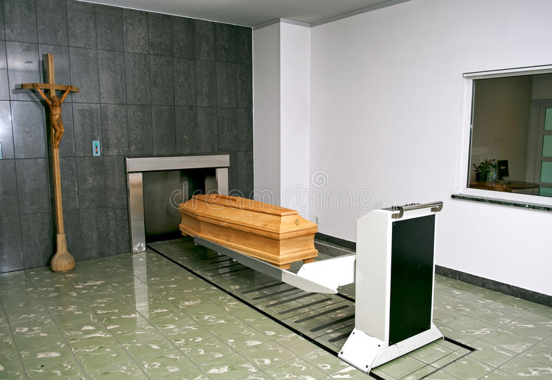 火葬场 免版税库存照片