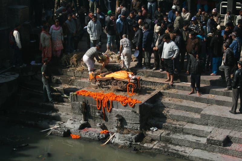 火葬用的柴堆 库存照片