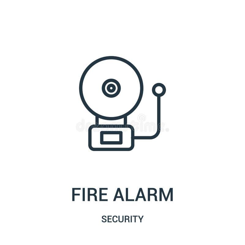 火警从安全汇集的象传染媒介 稀薄的线火警概述象传染媒介例证 r 皇族释放例证