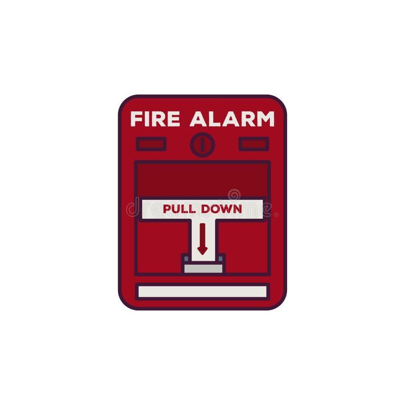 火警线传染媒介 库存例证