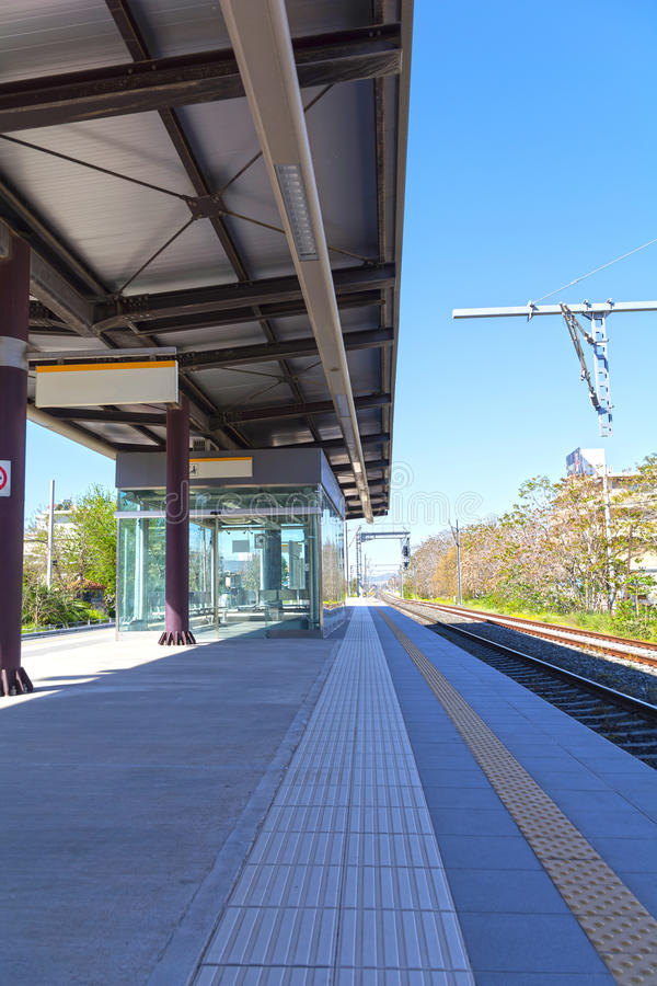 火车停放站 图库摄影