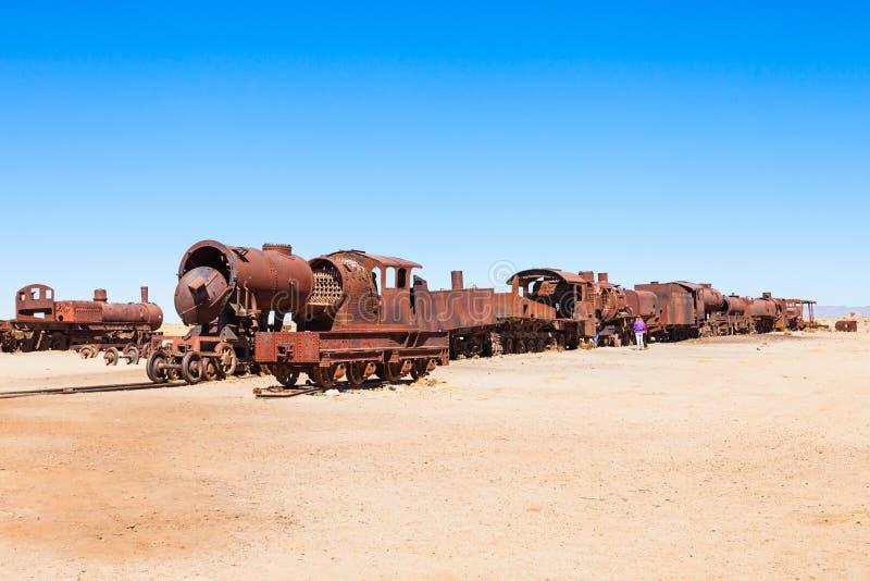 火车公墓,玻利维亚 免版税库存图片
