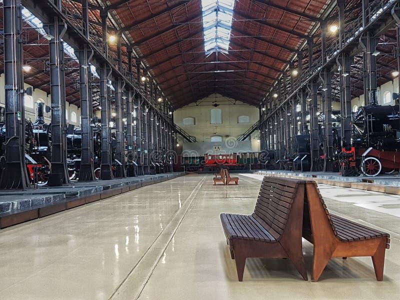 火车博物馆, Pietrarsa那不勒斯,意大利 免版税库存图片