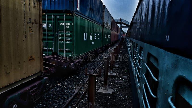 火车印地安人铁路 免版税库存照片