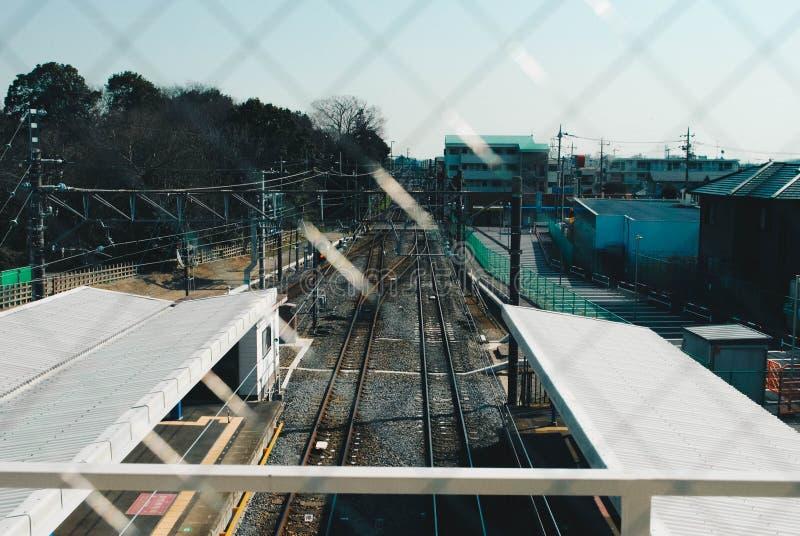火车向新宿 库存照片
