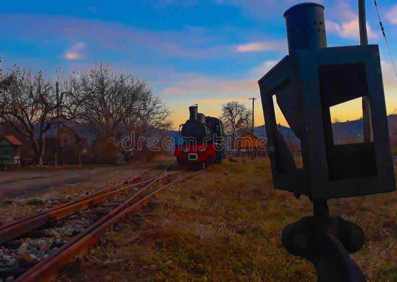 火车和杠杆 库存图片