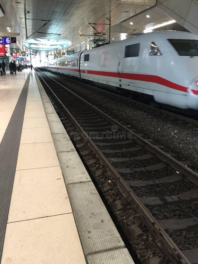 火车在德国 免版税图库摄影