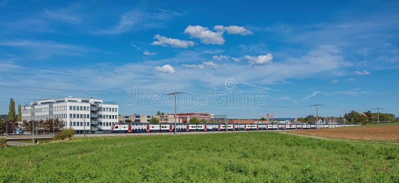 火车在Dubendorf 库存照片