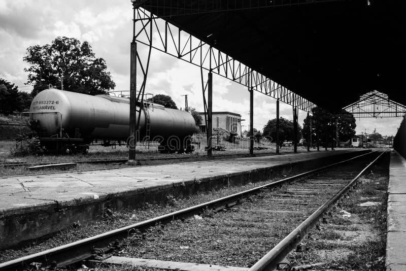 火车平台 图库摄影