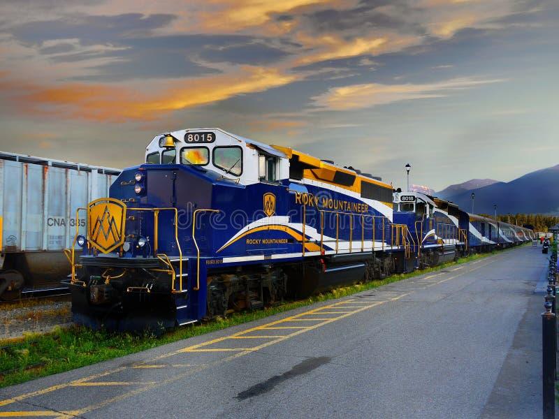 火车旅行加拿大 库存照片
