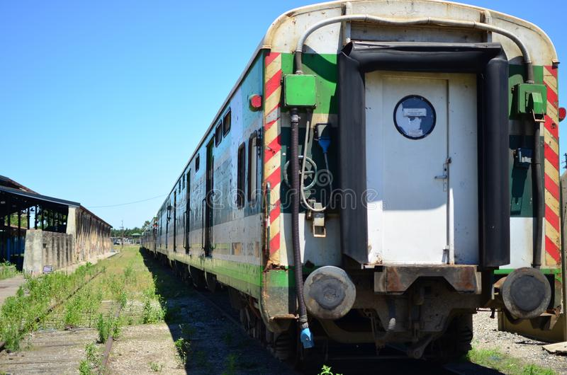火车无盖货车罗萨里奥Norte驻地 免版税库存照片