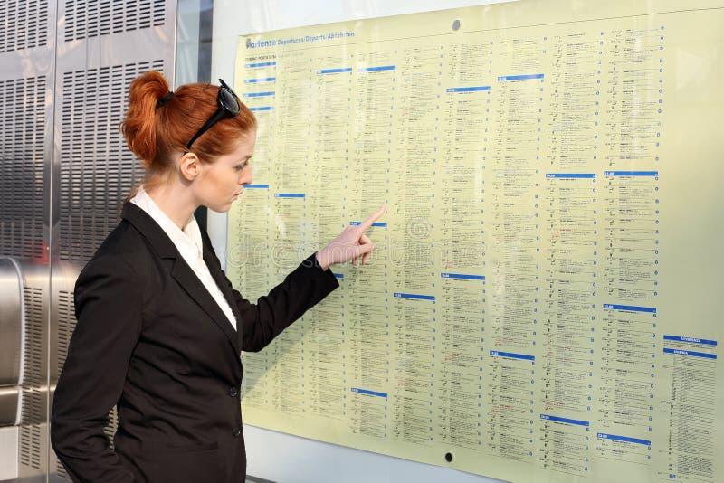 火车时间表 免版税库存照片
