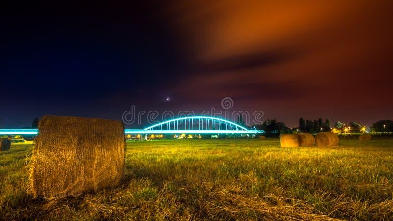 火车桥梁在萨格勒布 免版税库存图片