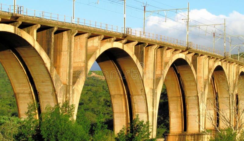 火车桥梁 库存照片