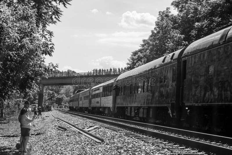 火车爱好者欢迎N&W类J611 免版税图库摄影