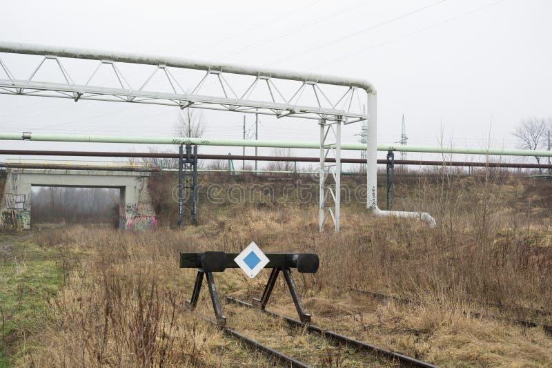 火车的缓冲桩 库存照片