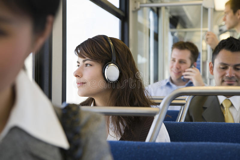 火车的通勤者 免版税图库摄影