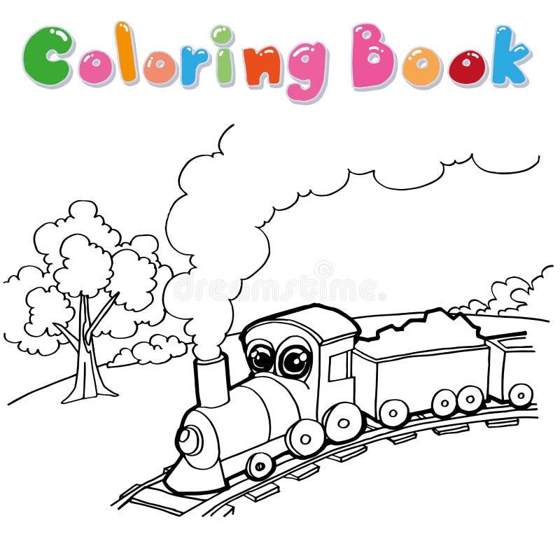 火车着色页传染媒介 向量例证
