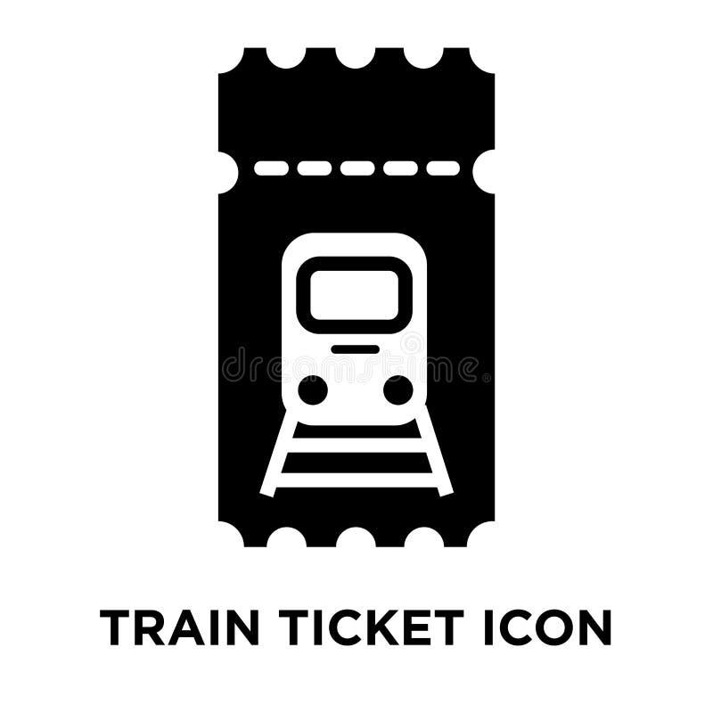 火车票在白色背景隔绝的象传染媒介,浓缩的商标 皇族释放例证