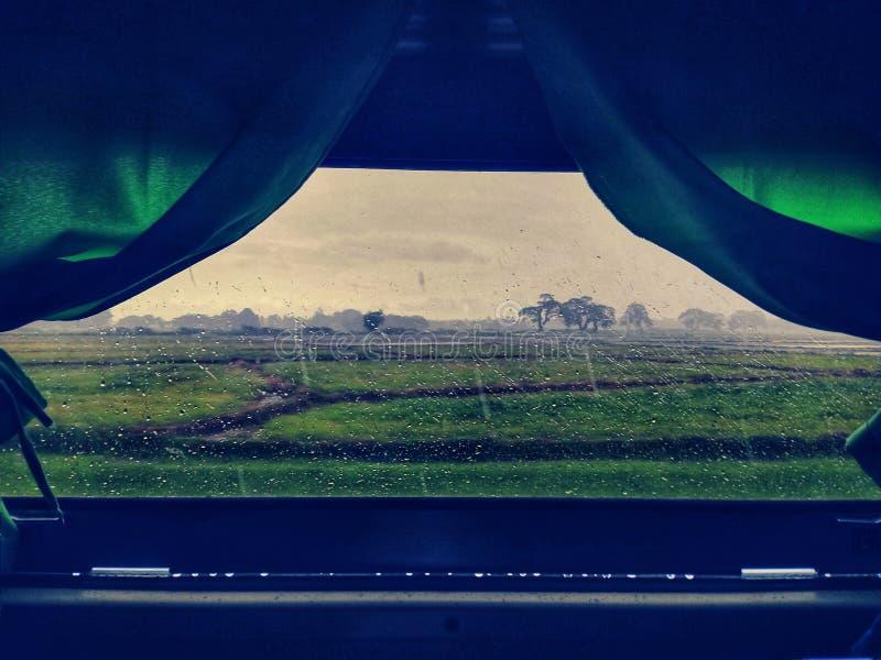 火车窗口 库存照片