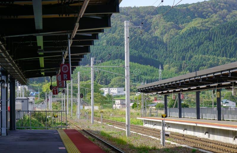火车站在函馆,日本 图库摄影