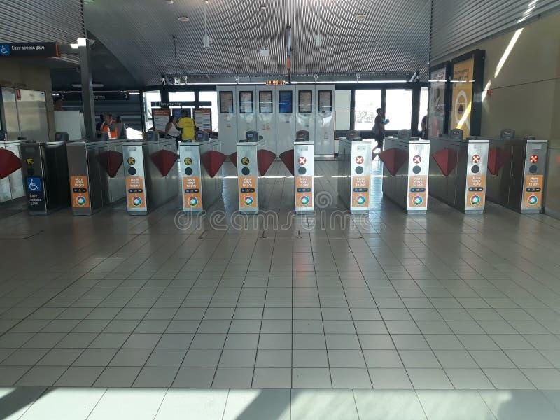火车站在悉尼,澳大利亚 免版税库存照片