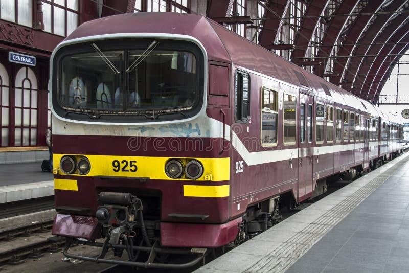 火车站在比利时,安特卫普 免版税库存照片
