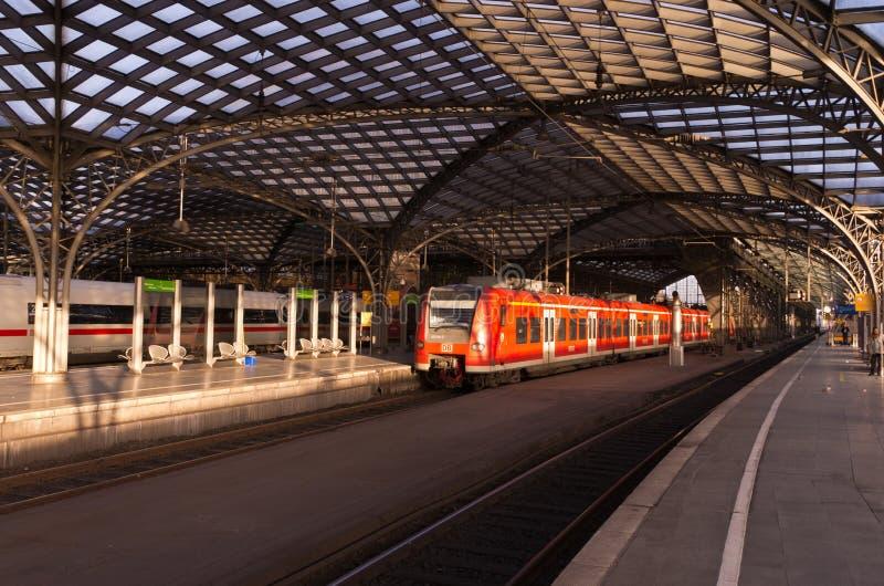 火车站在科隆 免版税库存图片