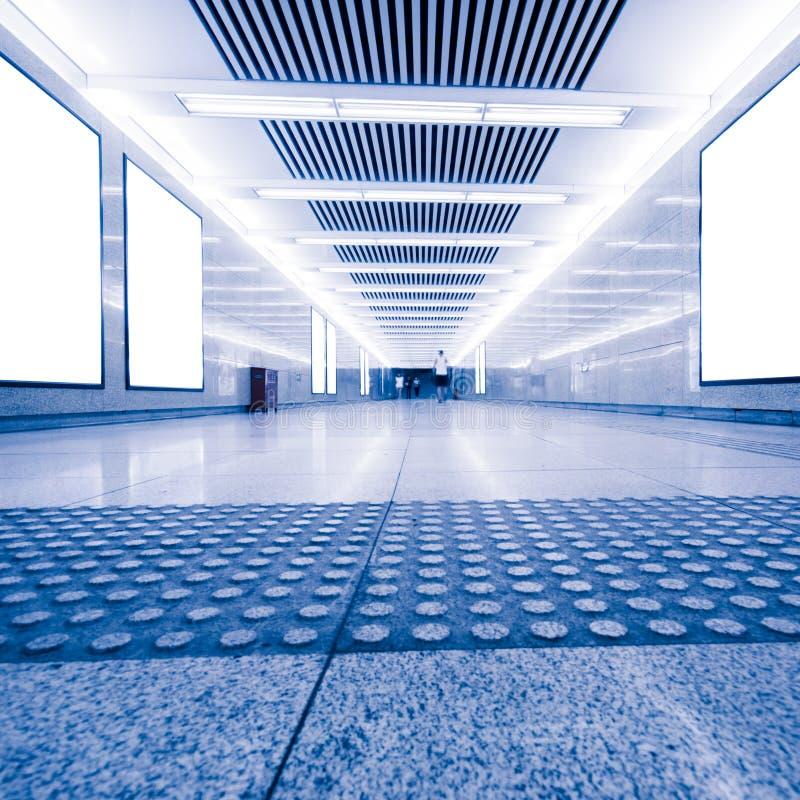 火车站地下过道 免版税库存图片