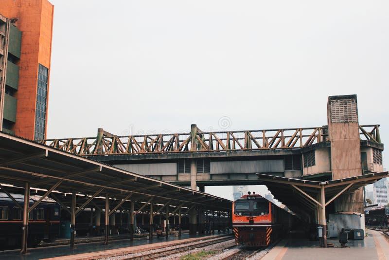 火车站火车 库存照片