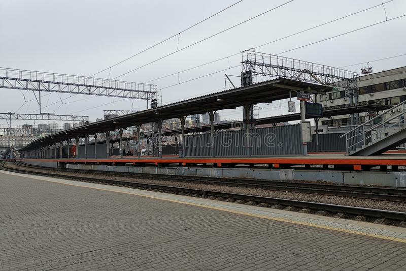 火车站的平台 库存照片