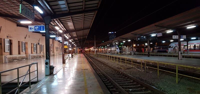 火车站萨格勒布 免版税图库摄影