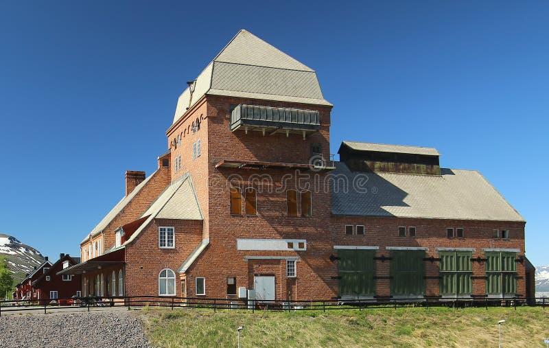火车站阿比斯库国家公园东部,在瑞典北部 大厦是被列出的als Byggnadsminne (建筑纪念碑) 库存照片